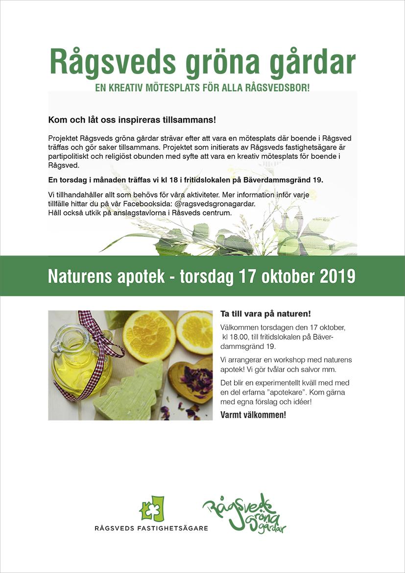 Naturens apotek - torsdag 17 oktober 2019