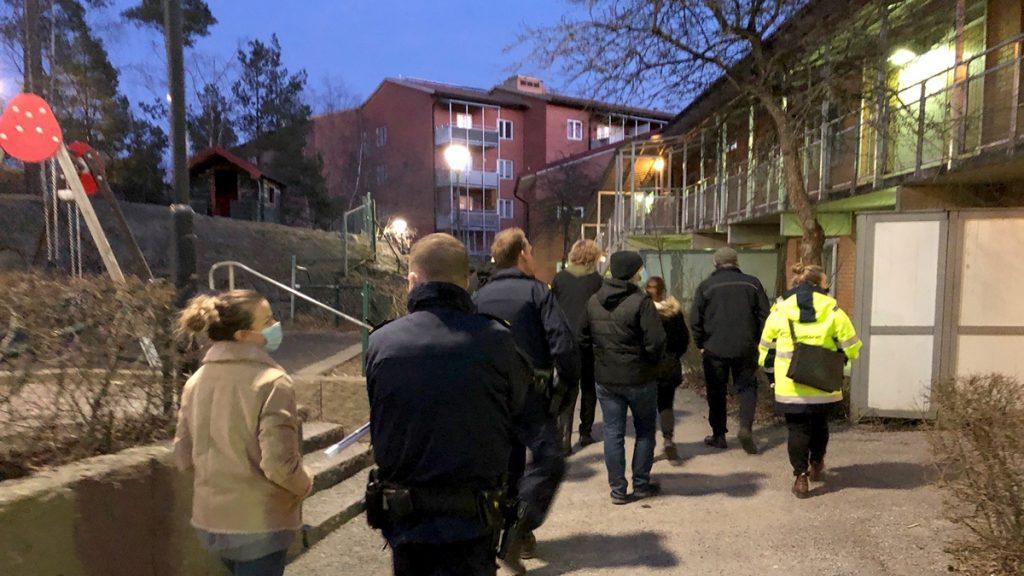 Trygghetsvandring hos IKANO Bostad i Rågsved